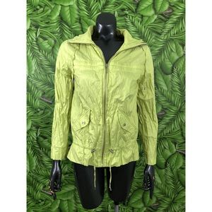 Chico's Windbreaker Jacket Size 0 Green